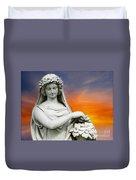 Flower Lady Duvet Cover