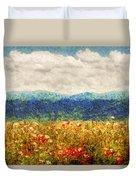 Flower - Landscape - Fragrant Valley Duvet Cover by Mike Savad