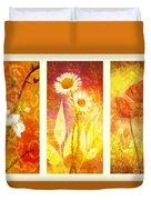 Flower Love Triptic Duvet Cover