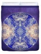 Flower Of Life Blue Duvet Cover
