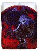 Flower Of Life Nouveau  Duvet Cover