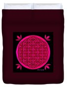 Flower Of Life - Pink Duvet Cover