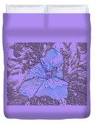 Flower Of Purple Duvet Cover