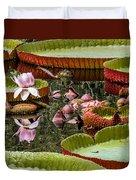 Flower Of Victoria Cruziana Duvet Cover
