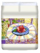 Flower On Chair Duvet Cover