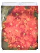 Flower On The Wall Duvet Cover