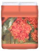 Flower On The Wall Duvet Cover