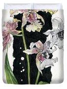 Flower Orchid 06 Elena Yakubovich Duvet Cover by Elena Yakubovich