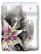 Flower Orchid 12 Elena Yakubovich Duvet Cover by Elena Yakubovich