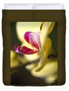 Flower-orchid-yellow Duvet Cover