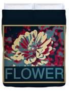 Flower Poster Duvet Cover
