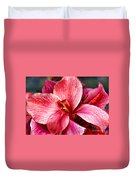 Flower Power In Pink By Diana Sainz Duvet Cover