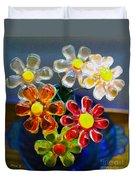 Flower Power Still Life Duvet Cover