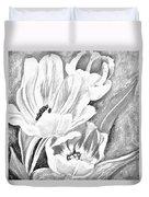 Flower Sketch Duvet Cover