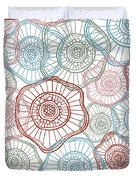 Flower Squiggle Duvet Cover