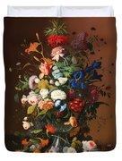 Flower Still Life With A Bird's Nest Duvet Cover