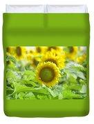 Flower - Texas Sunflower Field 1 - Luther Fine Art Duvet Cover