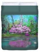 Flower Tree Reflections Duvet Cover