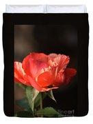 Flower-tri Toned-rose Duvet Cover