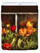 Flower - Tulip - Tulips In A Window Duvet Cover