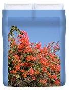 flower wall in Madagascar Duvet Cover
