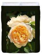 Flower-yellow Roses Duvet Cover