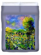 Flowered Village Duvet Cover