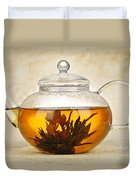 Flowering Blooming Tea Duvet Cover