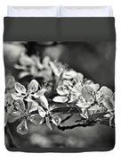 Flowering Crabapple 2 Bw Duvet Cover