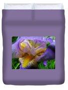 Flowering Iris Duvet Cover
