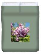 Flowering Lliac Bush Duvet Cover