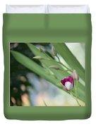 Flowering  Orchid Stem Duvet Cover