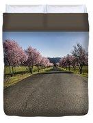 Flowering Plum Trees Duvet Cover