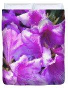 Flowers 2078 Pastel Chalk 2 Duvet Cover