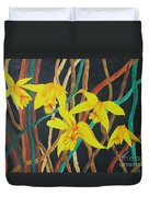 Flowers A Flame Duvet Cover