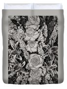 Flowers Abstract Duvet Cover