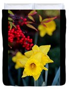 Flowers And Berries 030515aa Duvet Cover