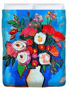 Flowers And Colors Duvet Cover by Ana Maria Edulescu
