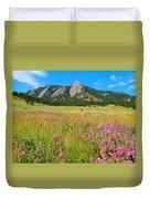 The Flatirons Colorado Duvet Cover
