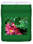 Flowers And Leaves Duvet Cover