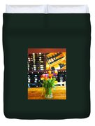 Flowers And Wine Duvet Cover