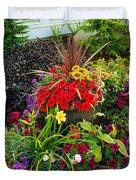 Flowers At Entrance Duvet Cover