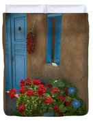 Flowers At Ranchos De Taos Duvet Cover
