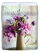 Flowers At The Post Office Duvet Cover