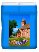Flowers At The Tabernacle Duvet Cover