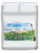 Flowers At Wolf Creek Duvet Cover