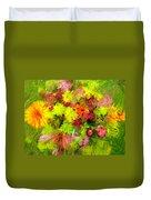 Flowers By The Brush Duvet Cover