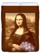 Flowers For Mona Lisa Duvet Cover