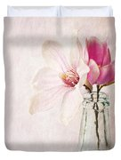 Flowers In A Bottle Duvet Cover