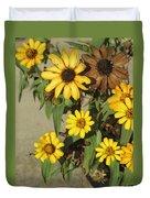 Flowers In Fall 2 Duvet Cover
